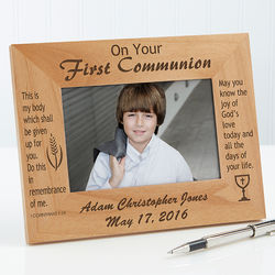 Personalized Remember This Day Communion Picture Frame