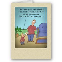 Funny Dad Rating Cartoon Card