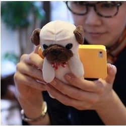 Mypetcase Plush Pug Dog iPhone Case