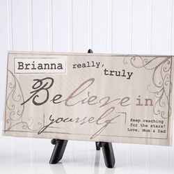 Really Truly Believe Personalized Canvas