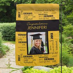 School Spirit Personalized Photo Garden Flag
