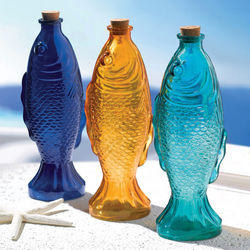 Decorative Glass Fish Bottles