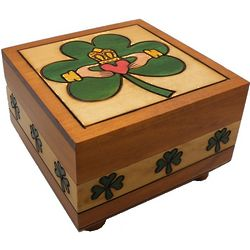 Claddaugh Secret Wooden Puzzle Box