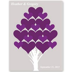 Forever Hearts Signature Guest Book Canvas