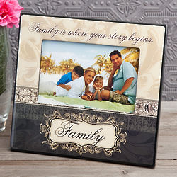 Family Scroll and Flourish 4x6 Picture Frames
