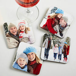 Personalized Pictures Bar Coaster Set