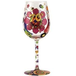 70's Girl Wine Glass