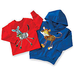 Personalized Long Sleeved Tiger / Zebra Boys T-Shirts