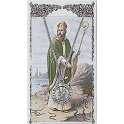 St. Patrick Patron Saint Prayer Card with Medal