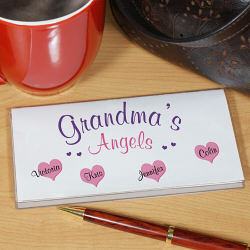 Angels Personalized Checkbook Cover