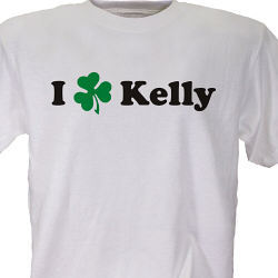 Personalized I Shamrock T-Shirt