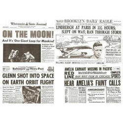 Air & Space Travel Historic Newspaper Replica Set