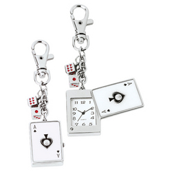 Poker Watch Keychain