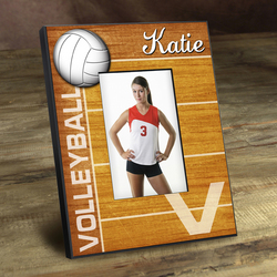 Personalized Kids Volleyball Picture Frame