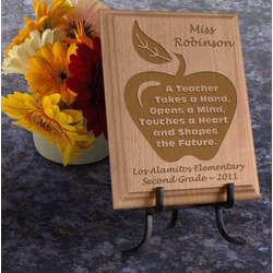 Personalized Teacher Wooden Plaque