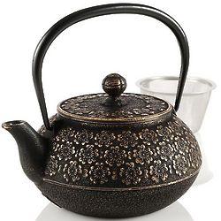 Medium Japanese Cherry Blossoms Cast Iron Teapot