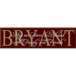 Blessed Family and Friends Last Name Sign