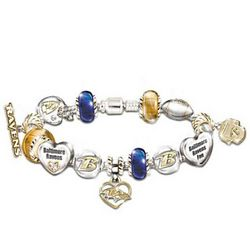 Go Ravens Number One Fan Charm Bracelet