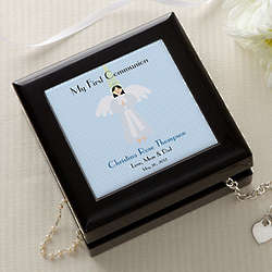 Personalized Communion Memories Keepsake Box