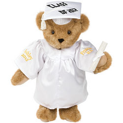 Graduation Teddy Bear in White Gown