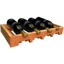 Wooden 4 Bottle Scalloped Stemware Wine Rack
