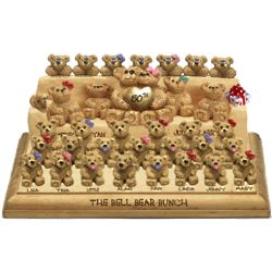 Personalized Huge Family Couch Bears Family Figurine