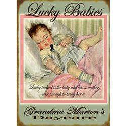 Personalized Pink Lucky Babies Sign