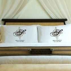 Perfect Panache Personalized Couples Pillow Case Set