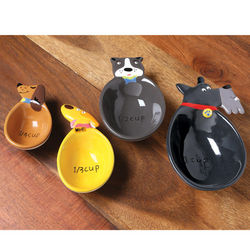 Ceramic Dog Measuring Cup Set