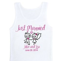 Personalized Just Married Tank Top