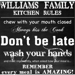 House Rules Personalized Canvas