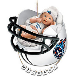 Tennessee Titans Personalized Baby's First Christmas Ornament