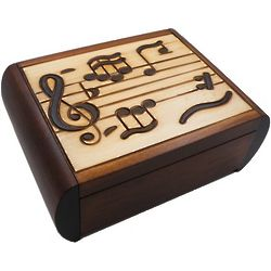 Music Secret Wooden Puzzle Box