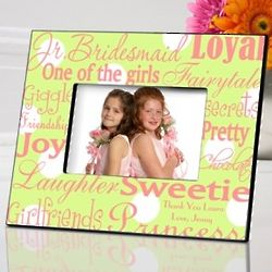 Personalized Green Dots Junior Bridesmaid Picture Frame