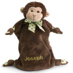 Stuffed Monkey Baby Blankie