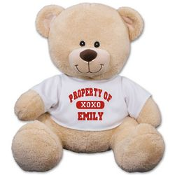 Personalized Property of XOXO Teddy Bear