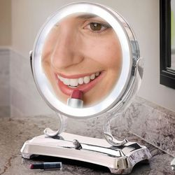 Large View Lighted Vanity Mirror