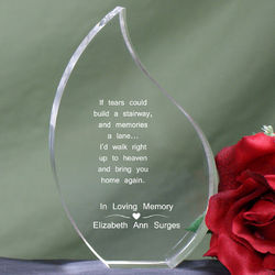 If Tears Could Build a Stairway Memorial Tear Plaque