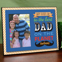 Best Dad on the Planet Printed Frame