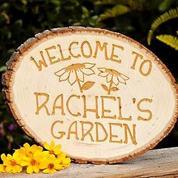 Personalized Country Garden Welcome Sign