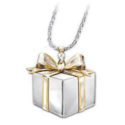 Sister's Gift of Love Sterling Silver & Diamond Pendant Necklace