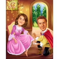 Cinderella Caricature Premium Luster Print