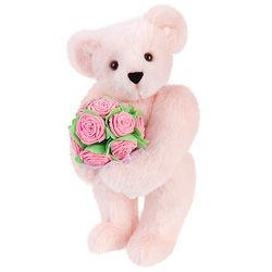 """15"""" Pink Rose Bouquet Bear"""