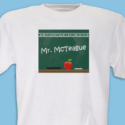 Personalized Teacher Chalkboard Design T-Shirt