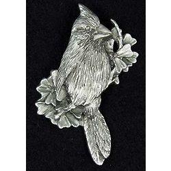 Pewter Cardinal Pin