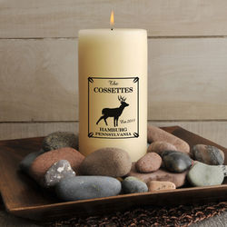 Personalized Stag Cabin Candle