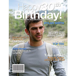 30th Birthday Personalized Magazine Cover