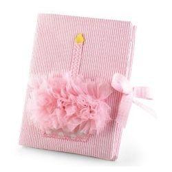 Baby Birthday Pink Chiffon Cupcake Photo Album