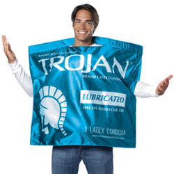 Trojan Condom Wrapper Costume