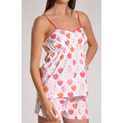 Pink Apples Short and Tank Top Pajama Set